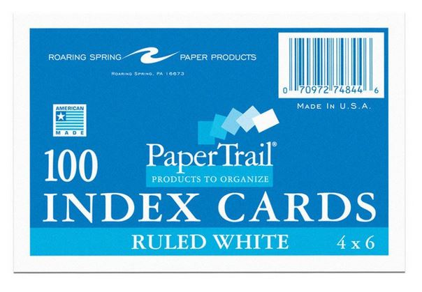 Image For Index Cards - 100 Pack 4x6